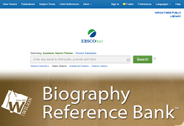 Screenshot of Biography Reference