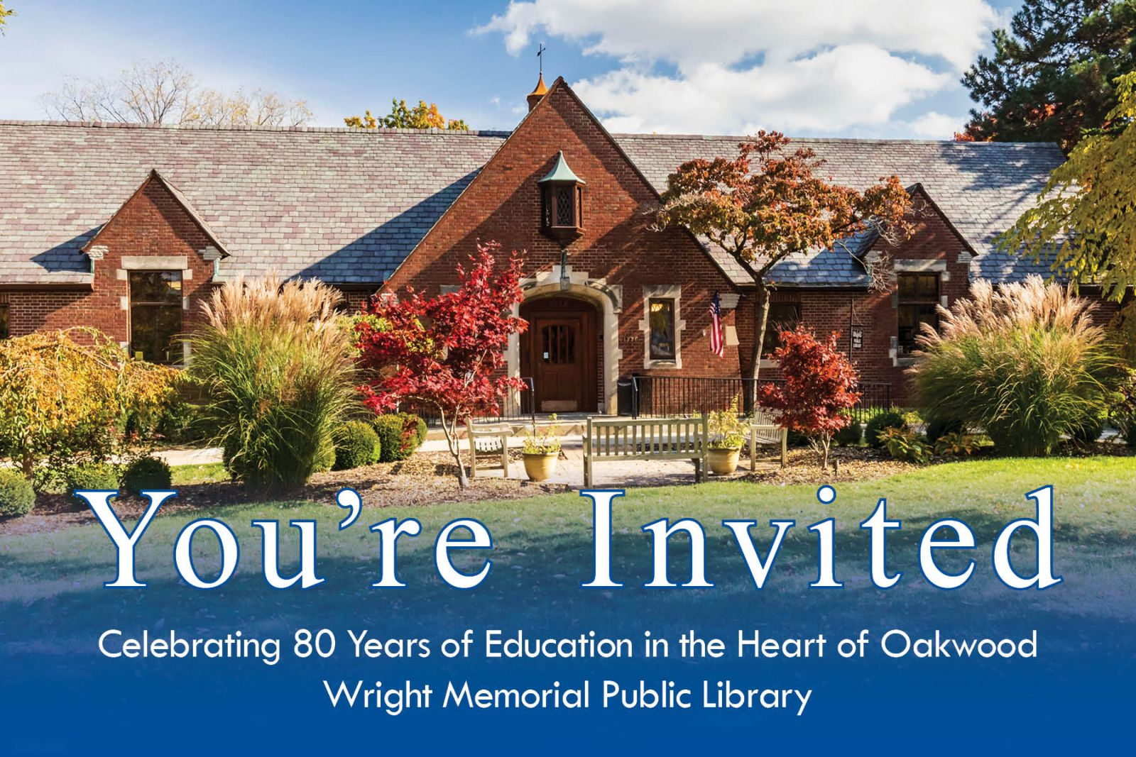 You're invited to celebratie 80 years of education in Oakwood