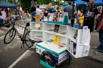 Book Peddler on display