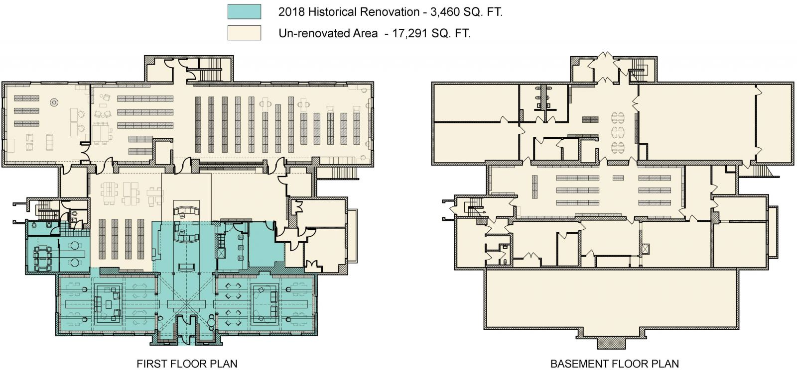 Library's current floor plan
