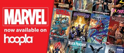 Marvel now available on Hoopla