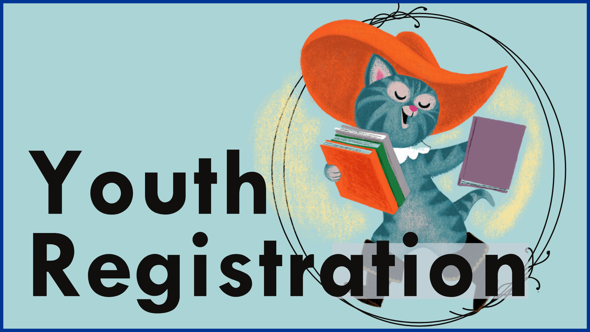 Youth Registration illustrarion of puss in boots