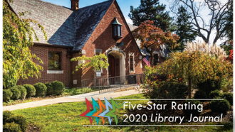 five-star rating library journal, photo of library exterior