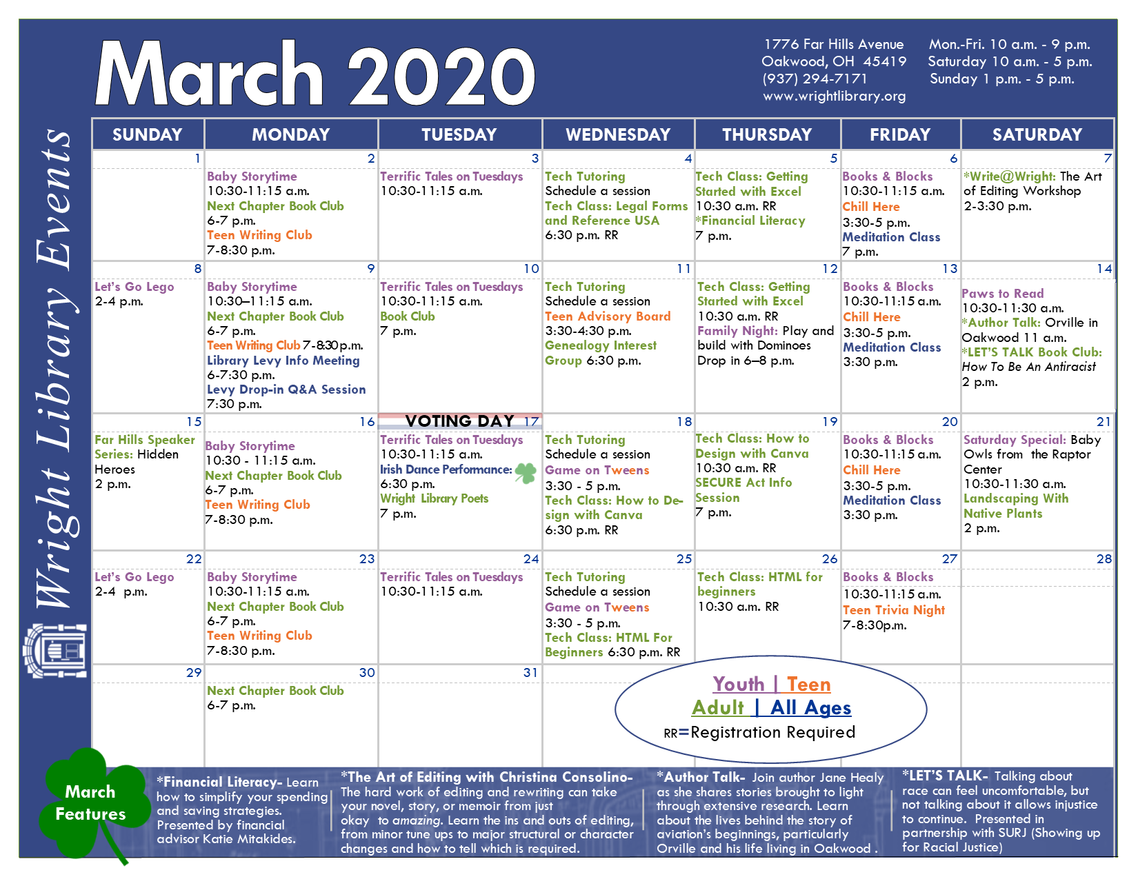 march library event calendar